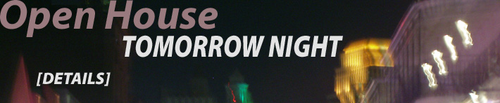 Open House Tomorrow Night